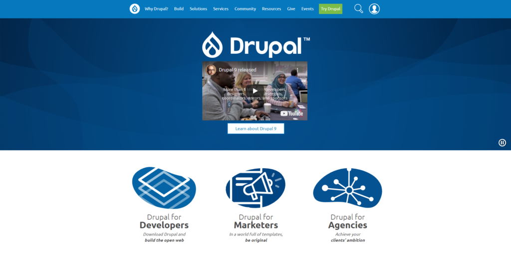 Abbildung 4.0: Screenshot Drupal-Website