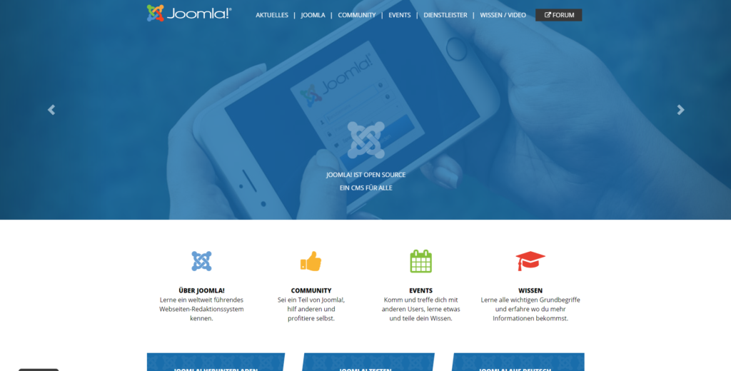 Abbildung 3.0: Screenshot Joomla-Website